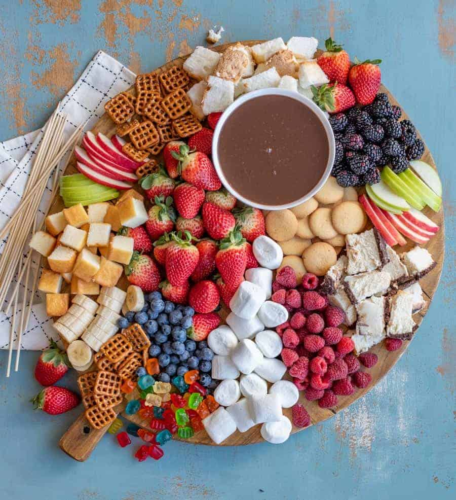 Yummy Chocolate Fondue Charcuterie Board - 20 BEST Charcuterie Board Ideas