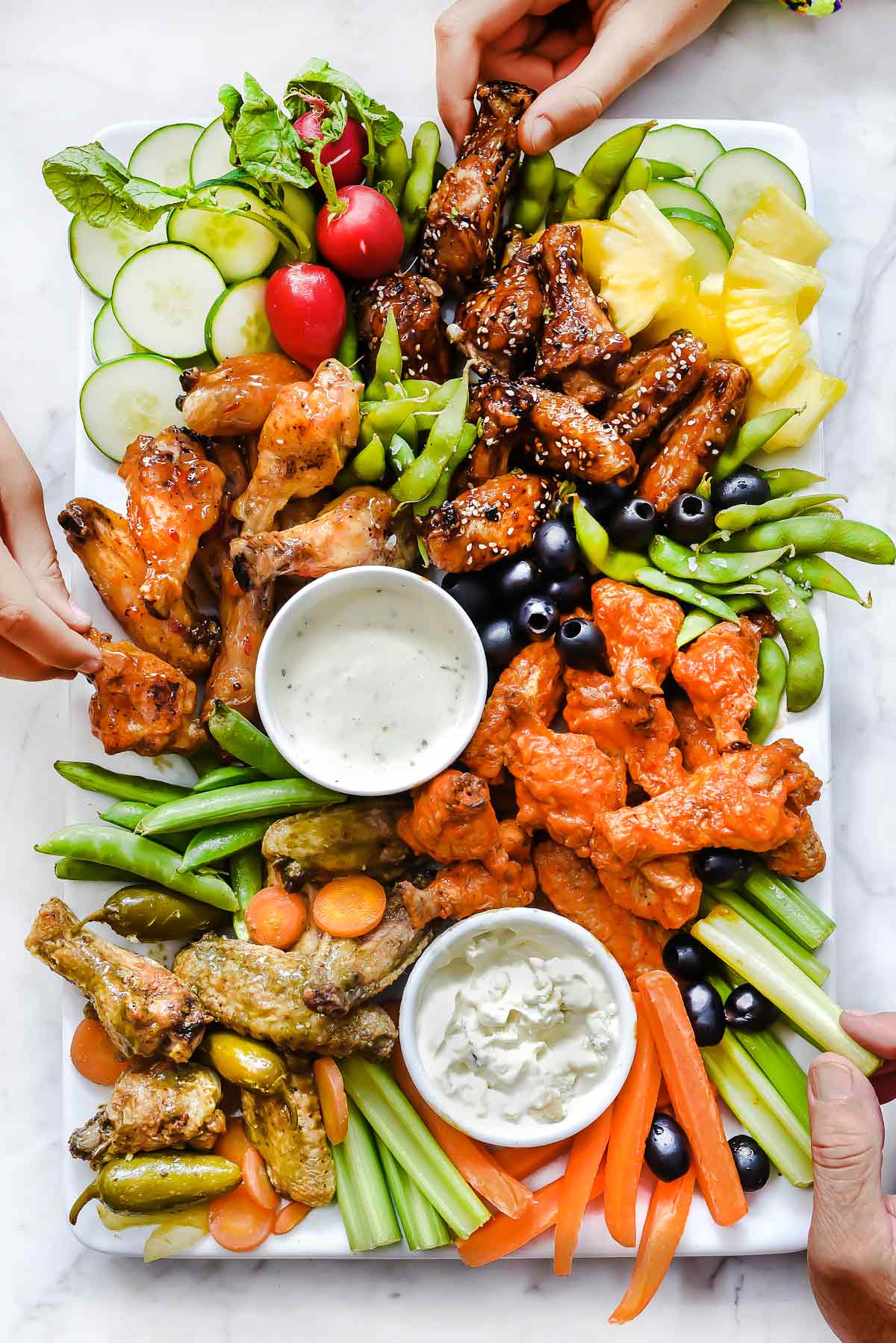 Hot Wings Charcuterie Board - 20 BEST Charcuterie Board Ideas