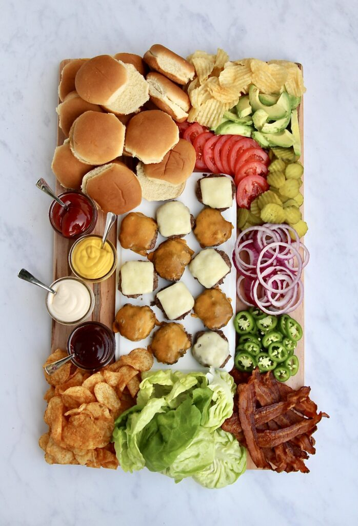 Burger Charcuterie Board - 20 Best Charcuterie Board Ideas