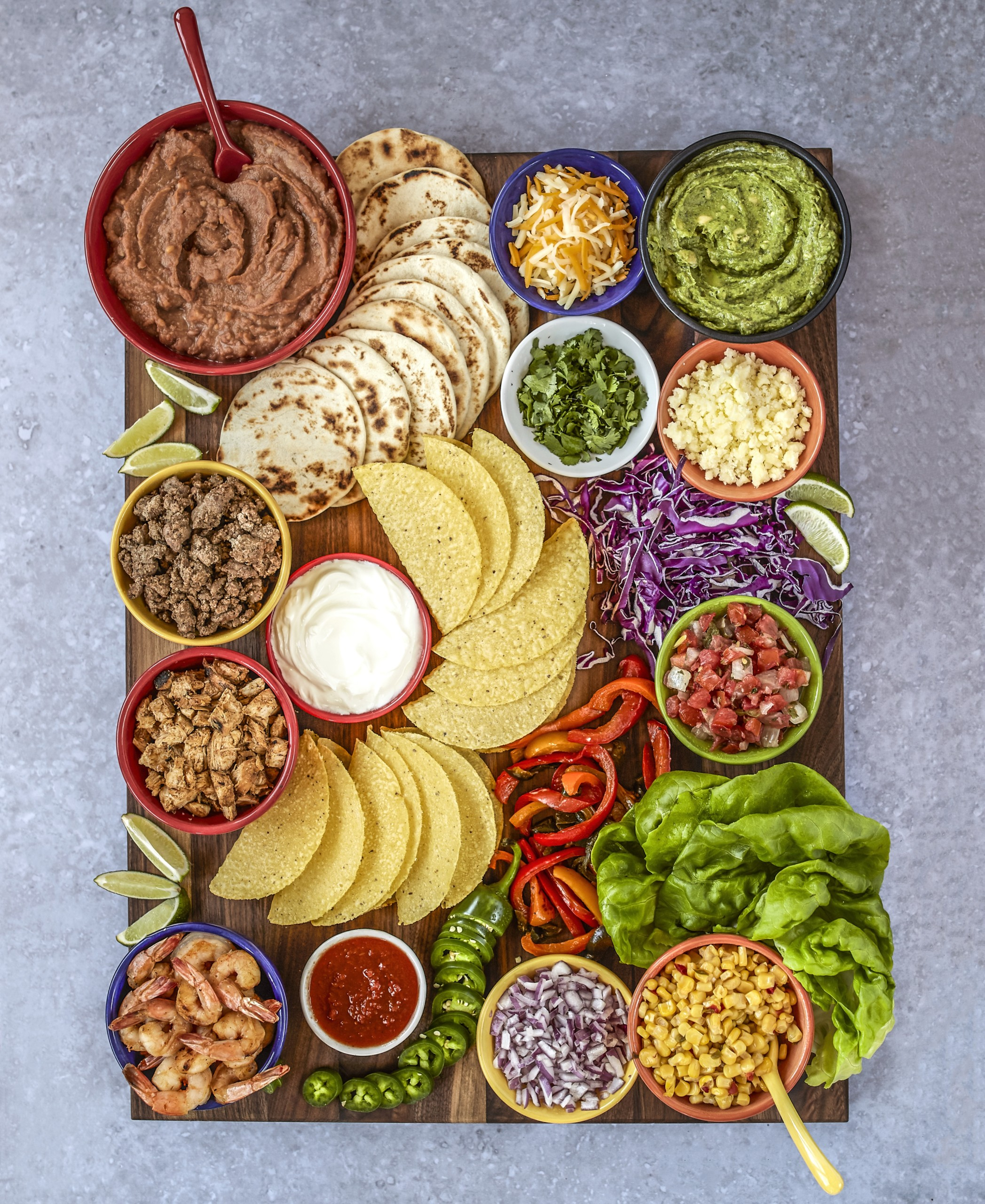 Taco Night Charcuterie Board - 20 BEST Charcuterie Board Ideas