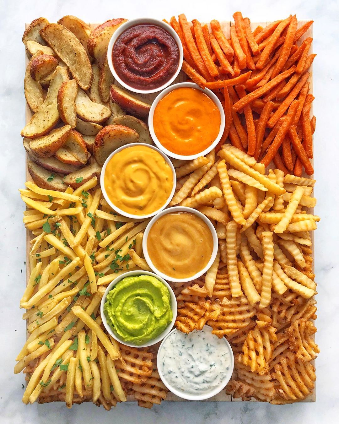 French Fry Charcuterie Board - 20 BEST Charcuterie Board Ideas
