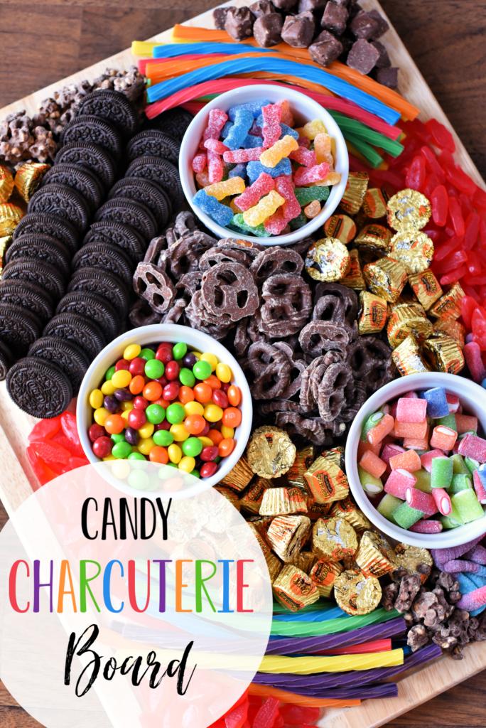 Kids Candy Charcuterie Board - Dessert Charcuterie Board Ideas