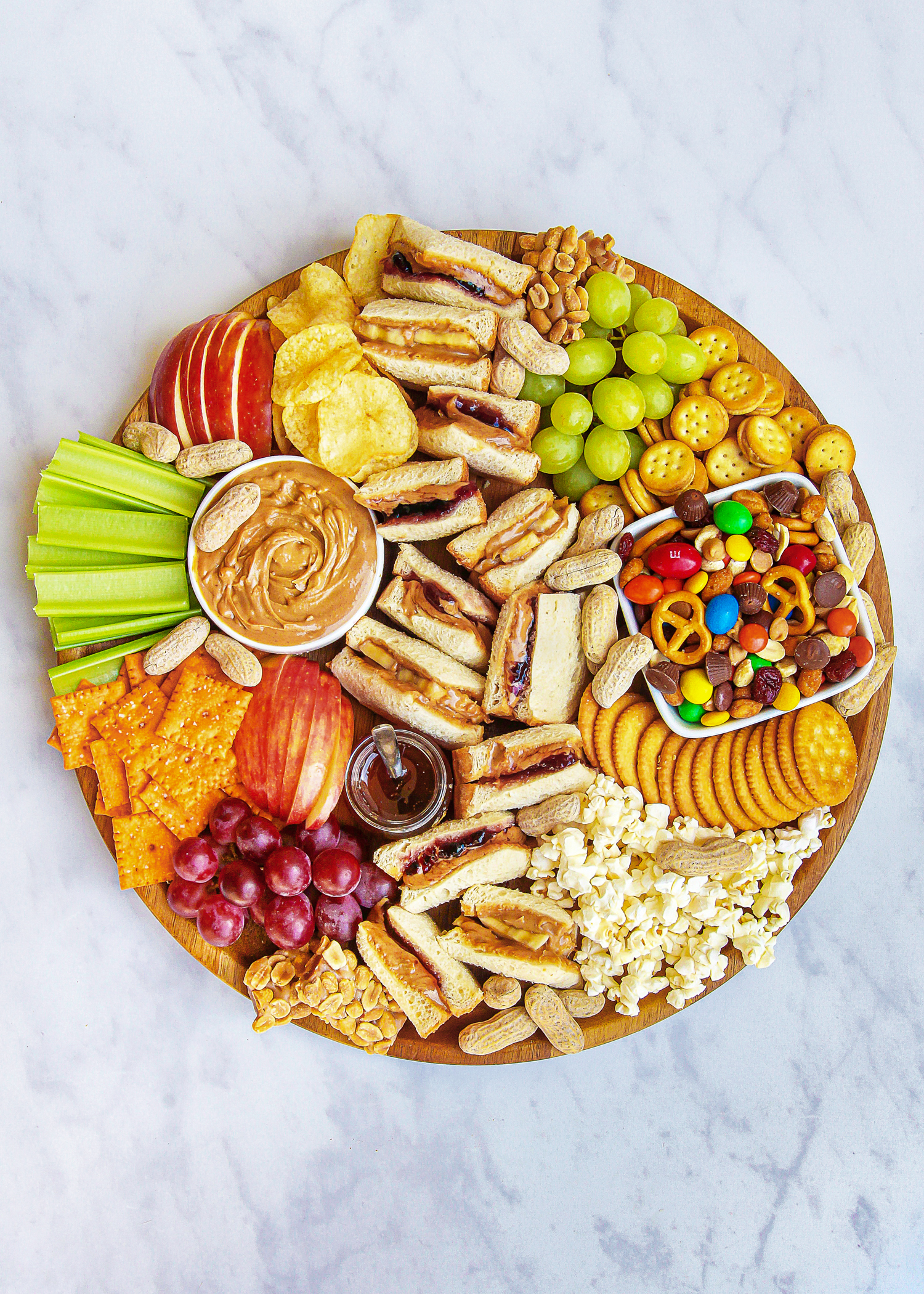 PB&J Charcuterie Board for Kids