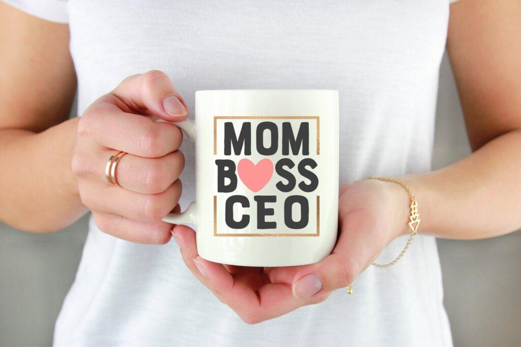 Mom Boss CEO Coffee Mug