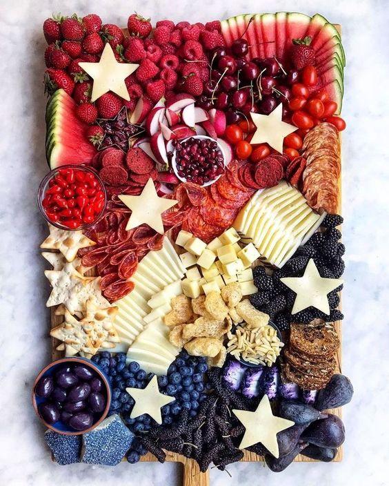 patriotic fruit board