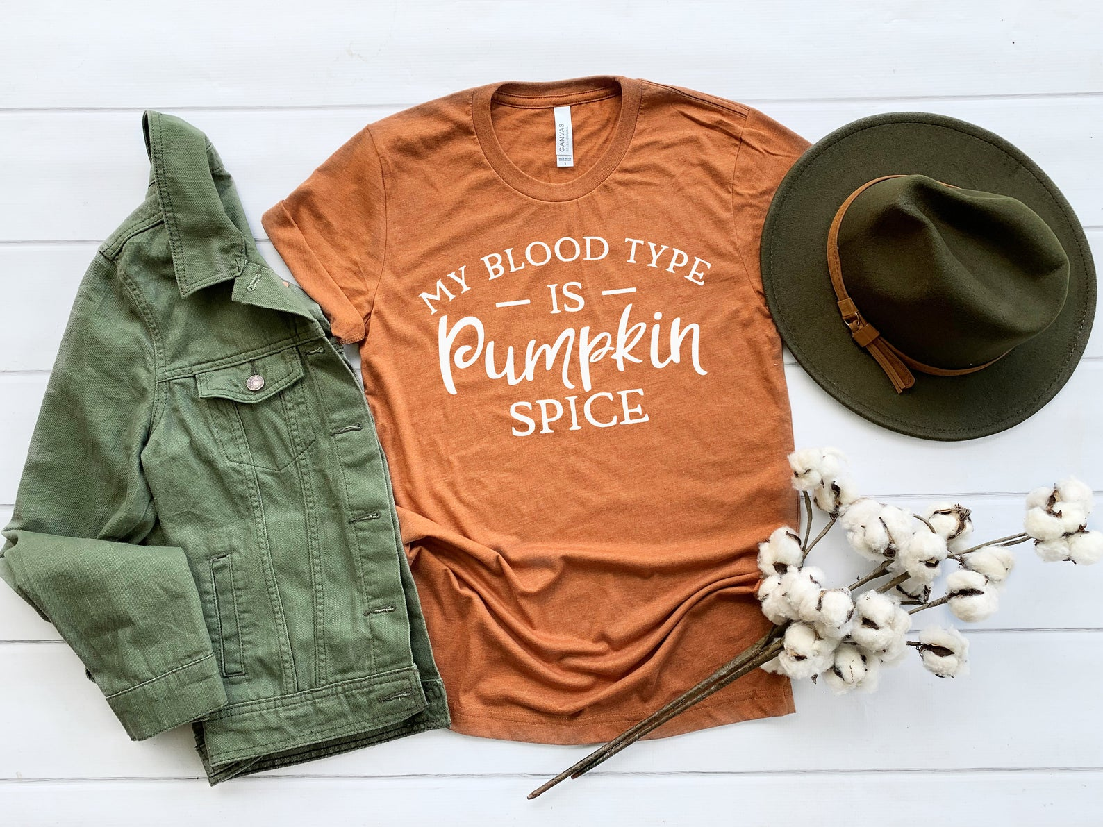 pumpkin spice shirt - my blood type is pumpkin spice