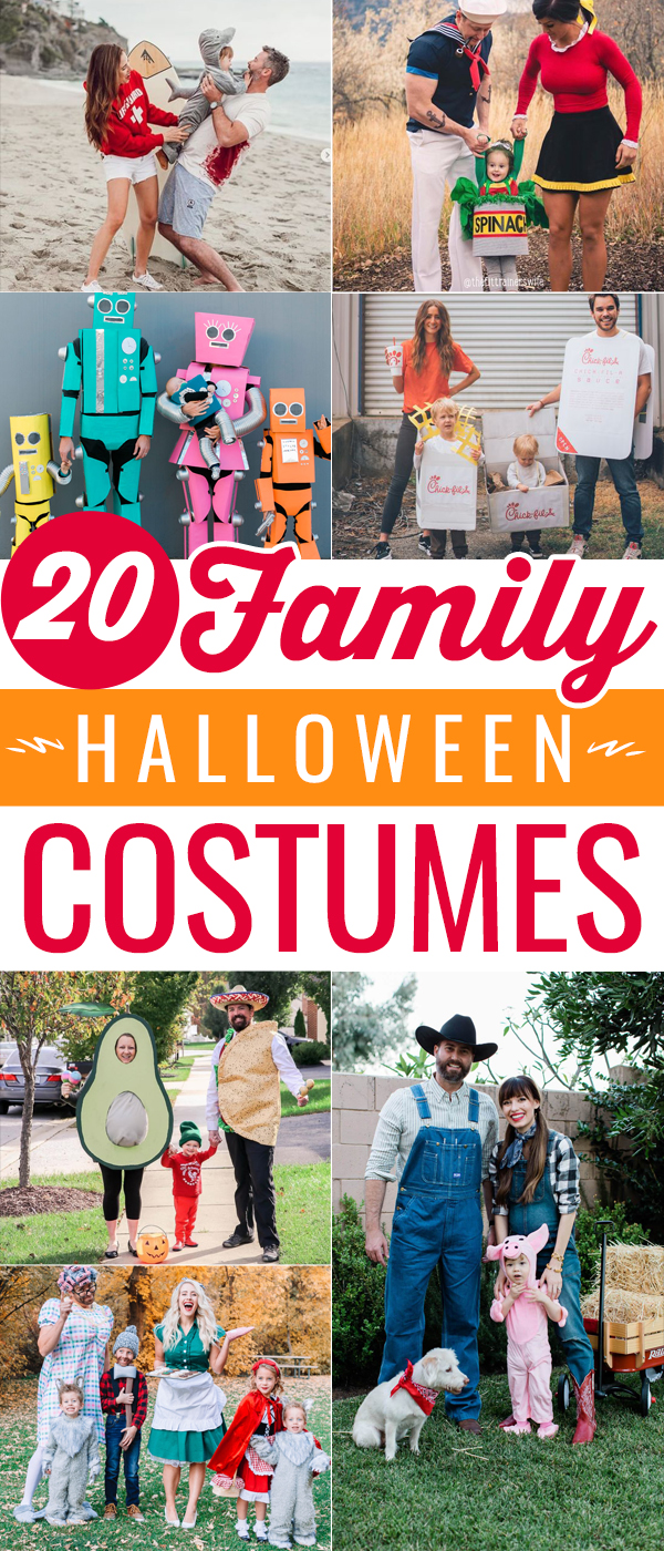 So many fun and creative Family Costumes for Halloween. These are sure to win a costume contest!