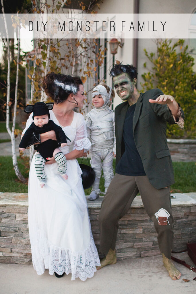 DIY Monster Family Costume - DIY Halloween Costumes
