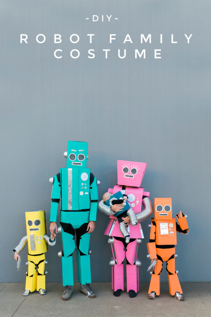 DIY Robot Halloween Costume for Family