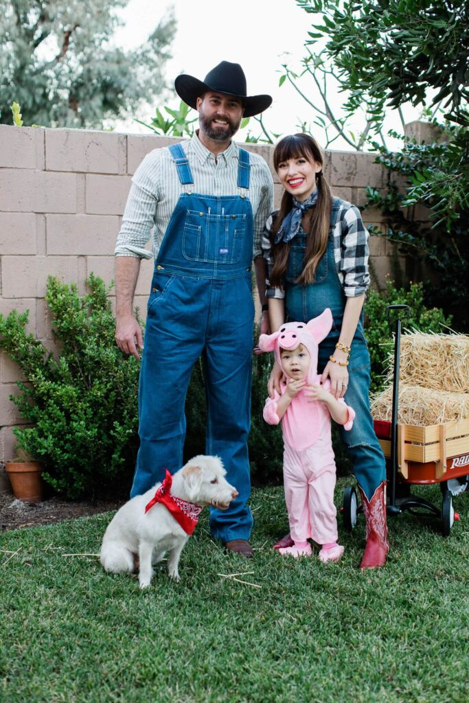 Pig farmer easy family Halloween costume