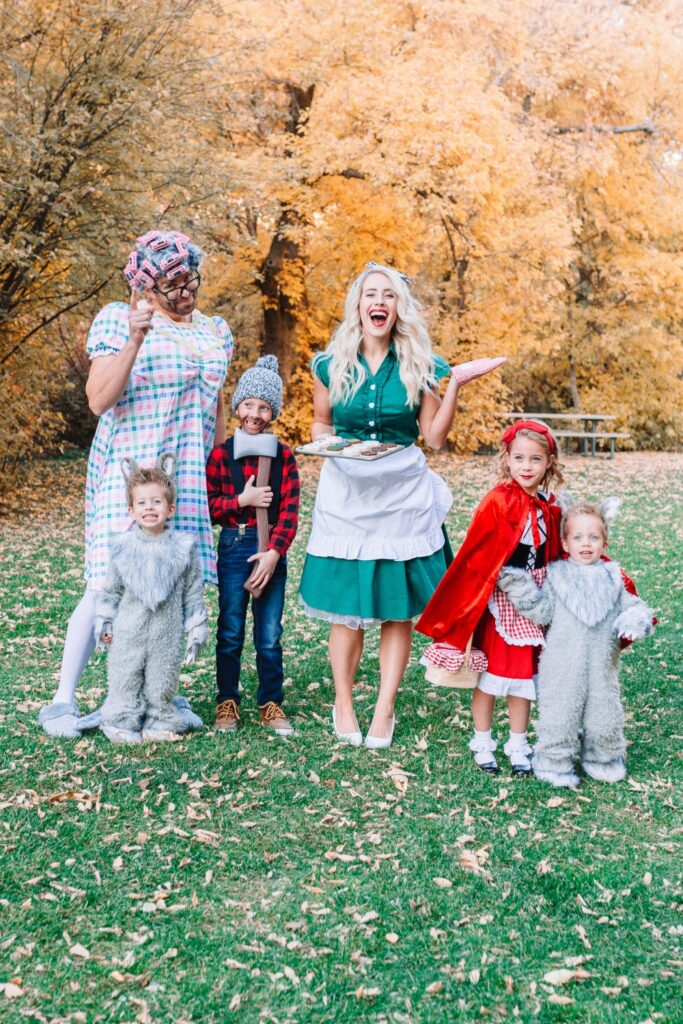 Little Red Riding Hood Halloween Family Costumes