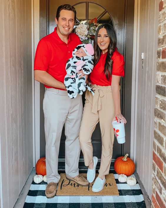 Chic-Fil-A Family Halloween Costume