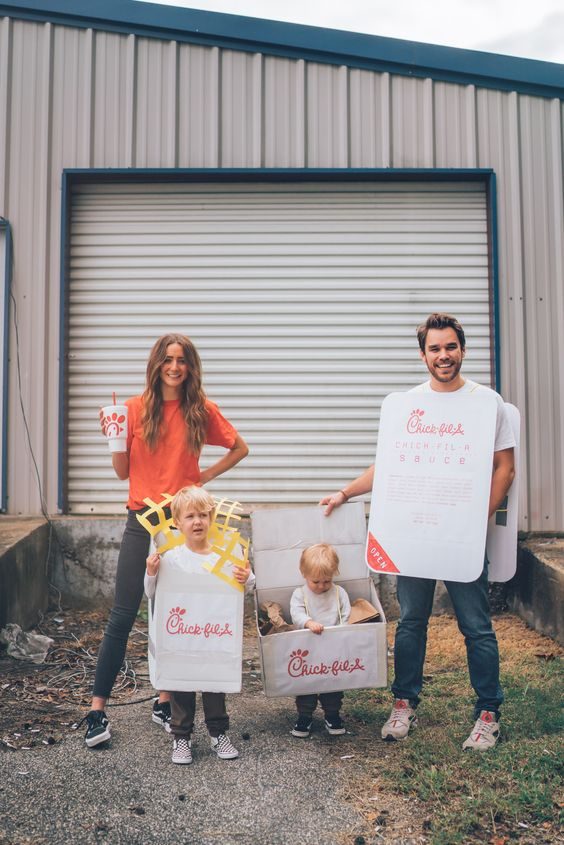 Chic-Fil-A Combo Meal Family Halloween Costume Idea - Family Costumes