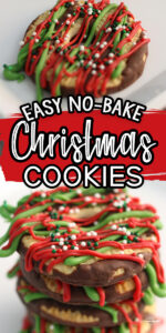 Easy No-Bake Christmas Cookies that are ready in under 5 minutes.