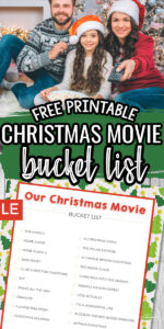Christmas Movie Bucket List - Free Printable