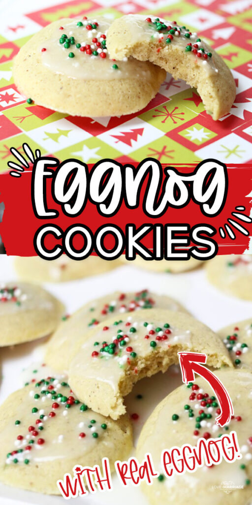 Eggnog Cookies - Christmas cookies with real eggnog and vanilla glaze on top.