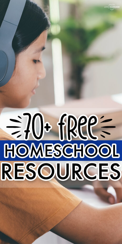70+ Free Homeschool Resources for everything from art, math, science, music, nature and lots of fun activities. Perfect for new homeschoolers. #homeschool #school #art #activity #kids #parenting #lesson #learn #learning
