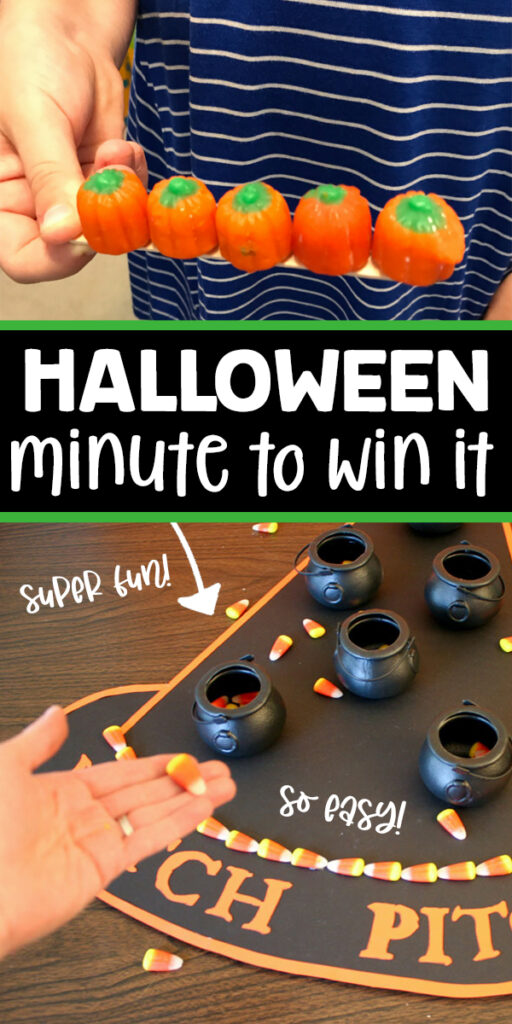 Fun Halloween Minute To Win It Games for kids and adults. These fun Halloween games are easy and make all kids giggle!