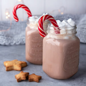 Peppermint Hot Chocolate is a super simple Christmas drink with just four ingredients.