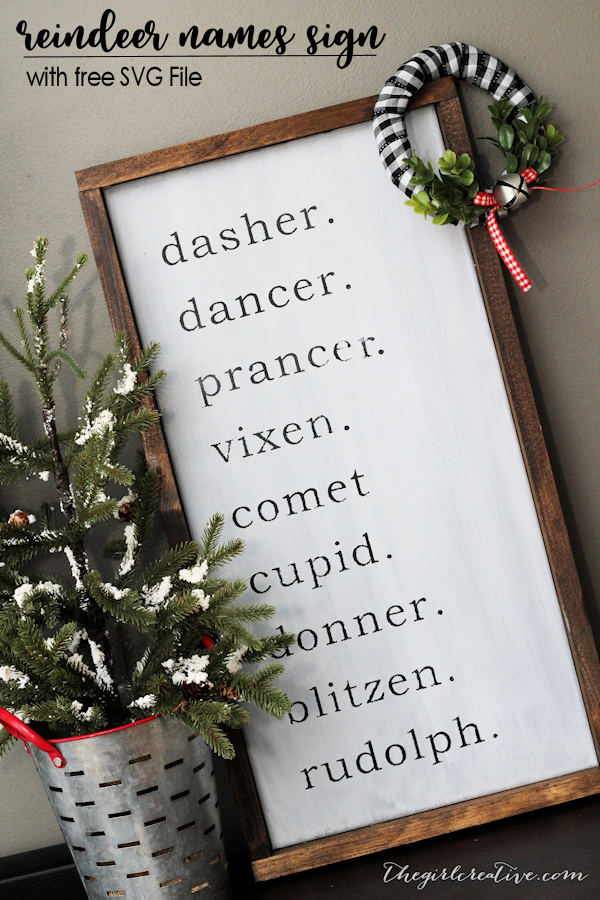farmhouse reindeer names sign
