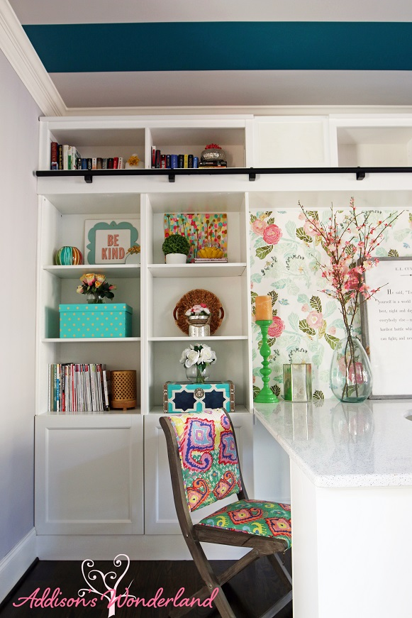 Colorful Chic Home Office