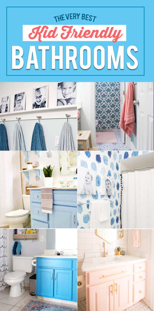 These kids bathroom ideas are cute, functional and can be used as inspiration for your next project. Home Decor Ideas | Bathroom Ideas #Home