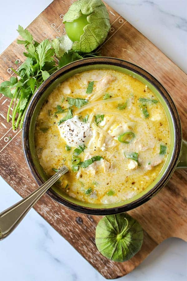 Green Enchilada Chicken Soup - The BEST Soup Recipes