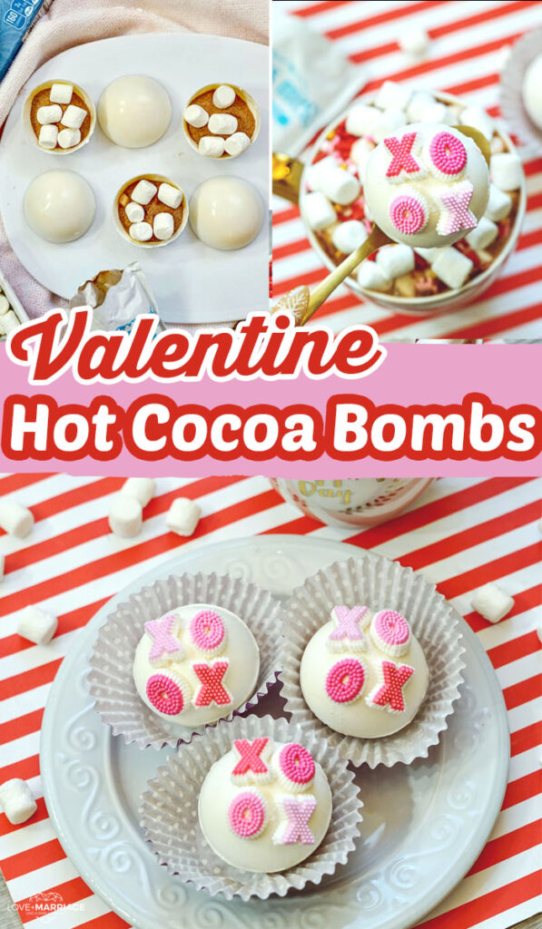 XOXO Hot Chocolate Bombs for Valentine's Day
