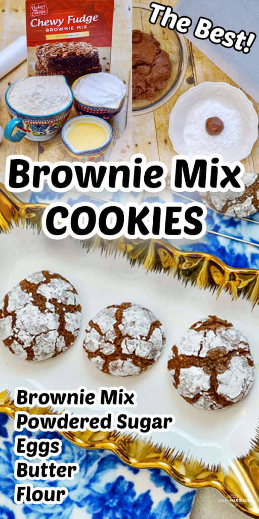Super Easy Brownie Mix Cookies Recipe. It's a soft chewy cookie mashup combining cookies and chocolate brownies. #yummy #food #recipe #cookies #brownies #brookies #dessert #chocolate