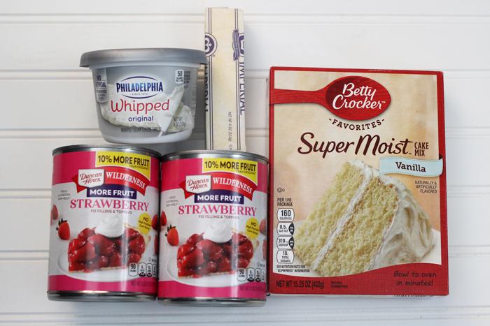 Strawberry Cheesecake Dump Cake Ingredients