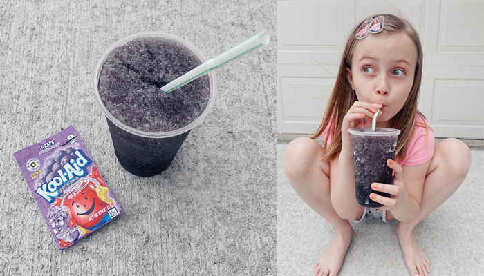 Grape Kool Aid Slushie