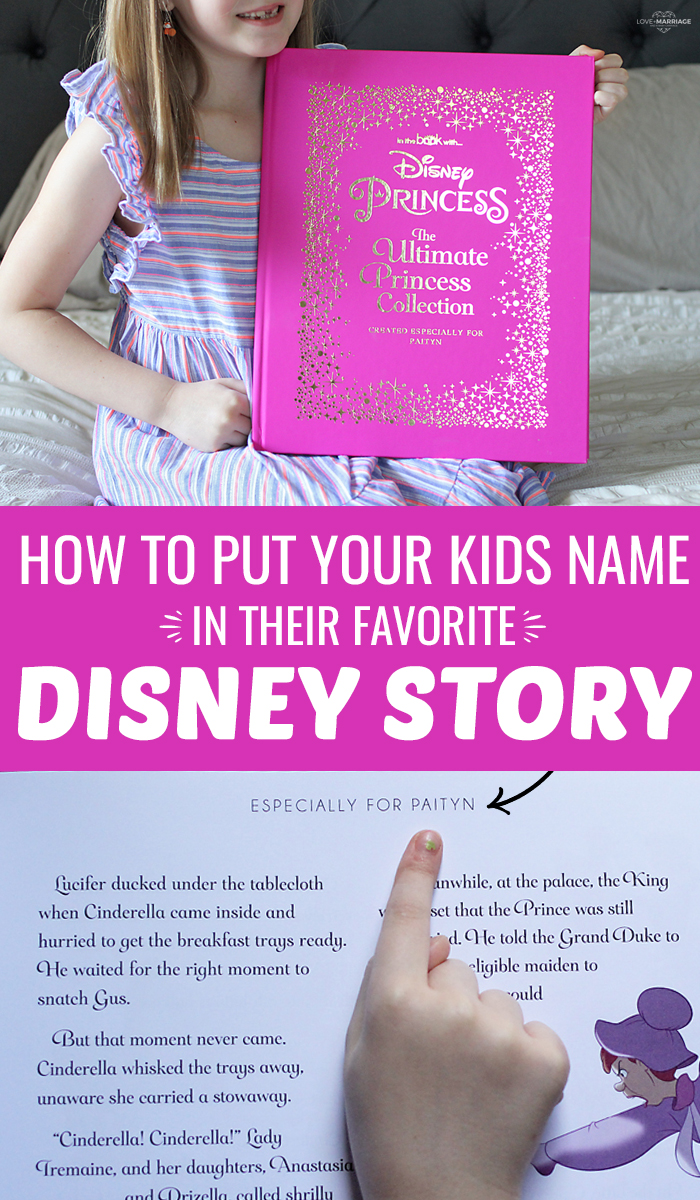 Disney Story Books are some of our most loved and precious books. Here's how to personalize them with your kids name using In The Book.