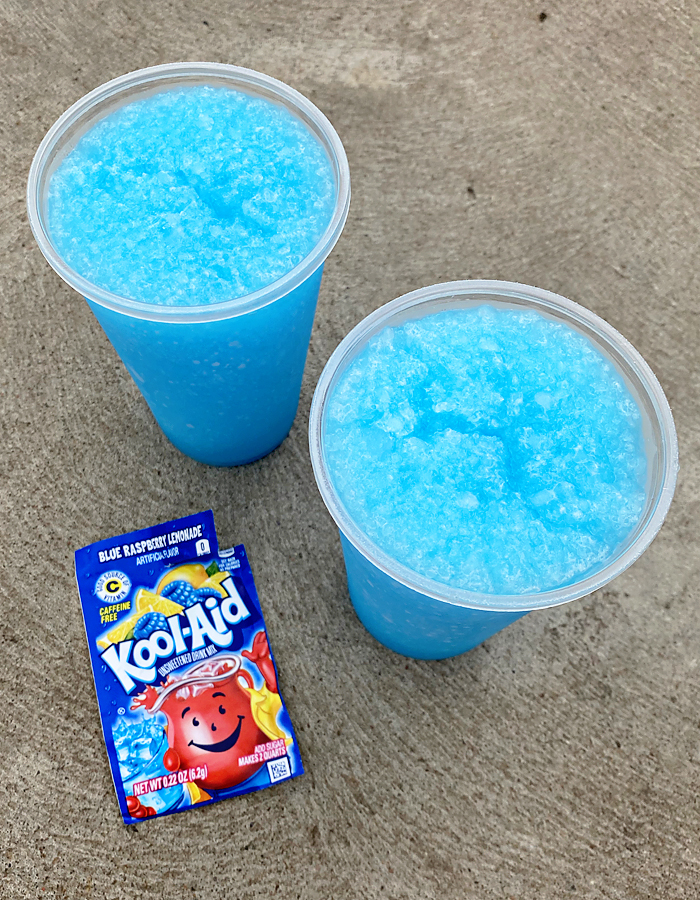 Kool Aid Slushies are my kids favorite Summer treat. They are super low cost and incredibly easy. It's a win for everyone. #drinks