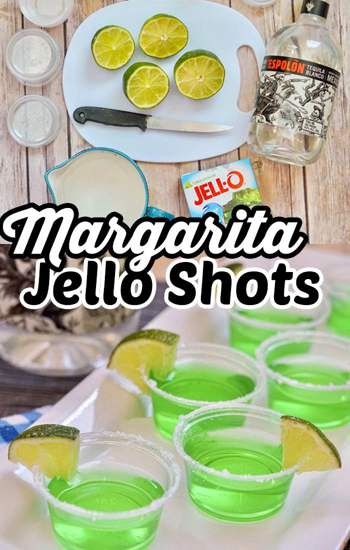 Margarita Jello Shots Recipe   Super easy jello shots with tequila. #Recipes #Drinks
