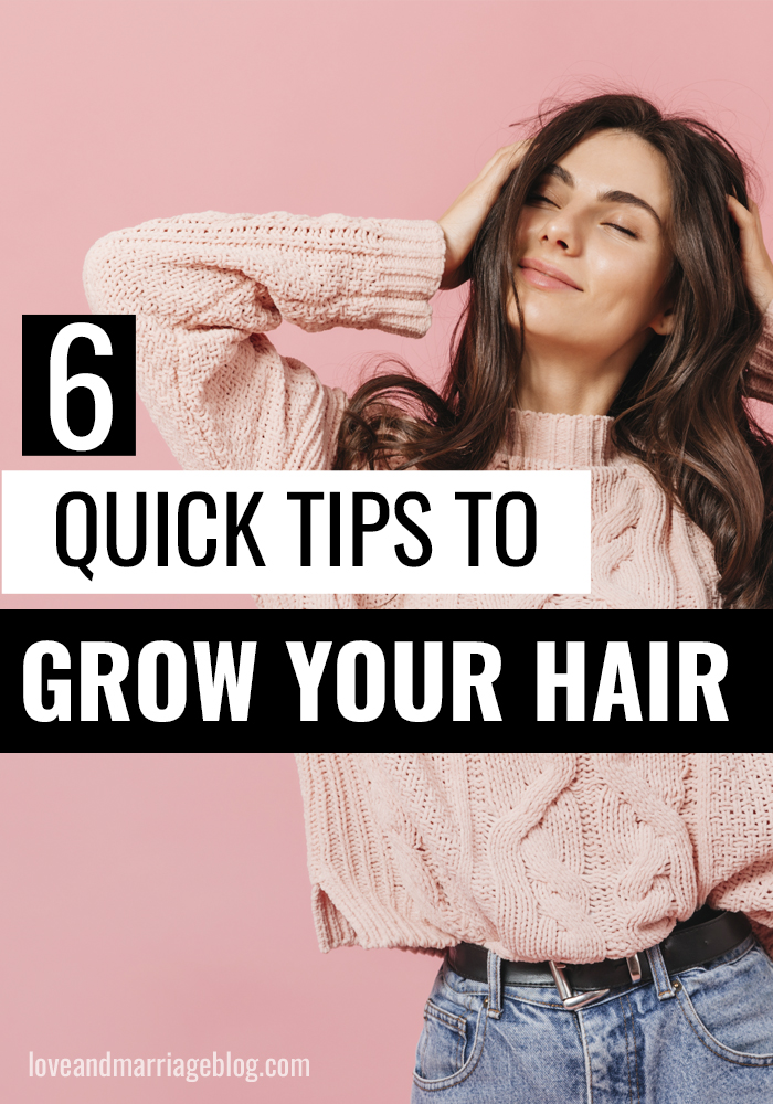 These 6 tips for growing hair long quick are so helpful to anyone struggling to grow their hair long. #BeautyHacks #HairTips