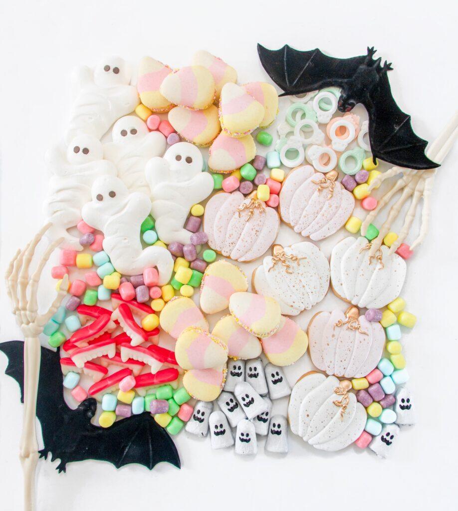 Pretty White Halloween Snack Board