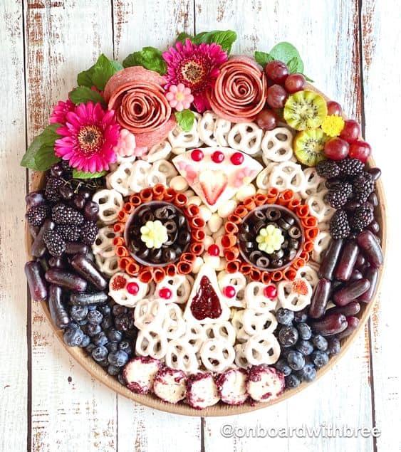 Sugar Skull Halloween Snack Board