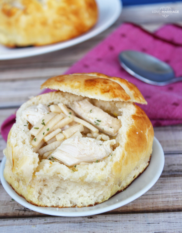 This Homemade Bread Bowls recipe is a simple way to make fresh baked bread perfect for soup and chili.